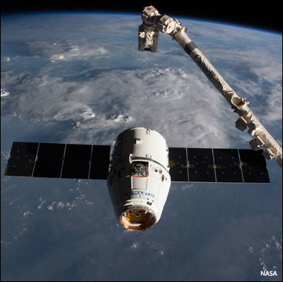 Dragon delivers cargo - and soon humans - to space
