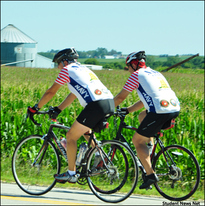RAGBRAI XLV ends at the Mississippi River
